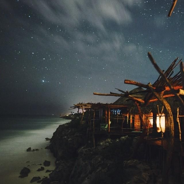 Tulum's beaches are a dream during the day, but don't miss #Mexico's starry skies come nighttime. Photo courtesy of emilylaurenblake on Instagram.