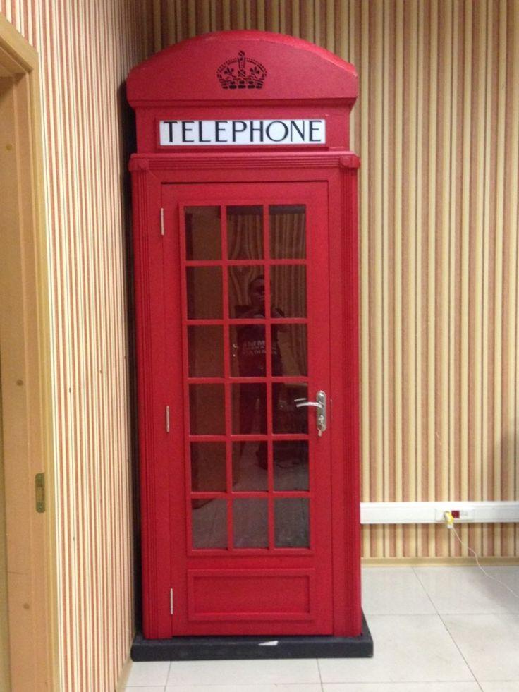 Английская телефонная будка.  Материал - дерево. Изготовлю на заказ.