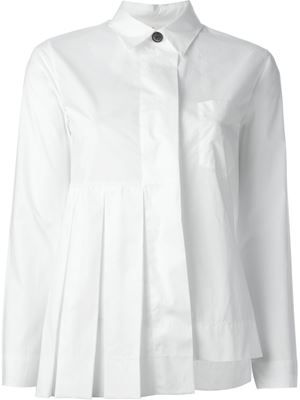pleated detail asymmetric shirt, , by Marni, SS16