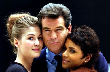 "Rosamund Pike, Pierce Brosnan & Halle Berry in ""James Bond: Die Another Day"" (2002)"