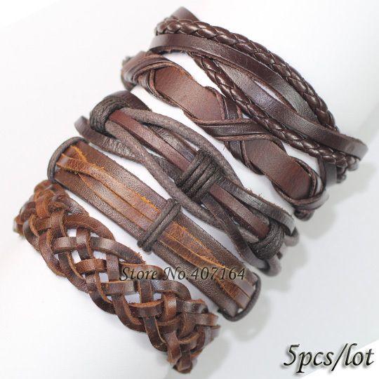 Encontre mais Pulseira com pingentes Informações sobre Fl9 novos brown pulseiras pulseiras encantos ethnichandmade genuíno trançado envoltório pulseira de couro de cânhamo para presente, de alta qualidade armazenamento pulseira, pulseira e bracelete China Fornecedores, Barato pulseiras de metal de SunFlower Trade Co.,Ltd em Aliexpress.com