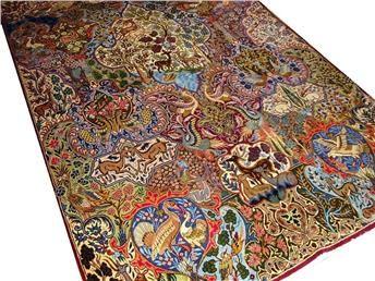 Persisk handknuten Kashmar matta, ca 200 x 300 cm. Mattan är NY och nytvättad!