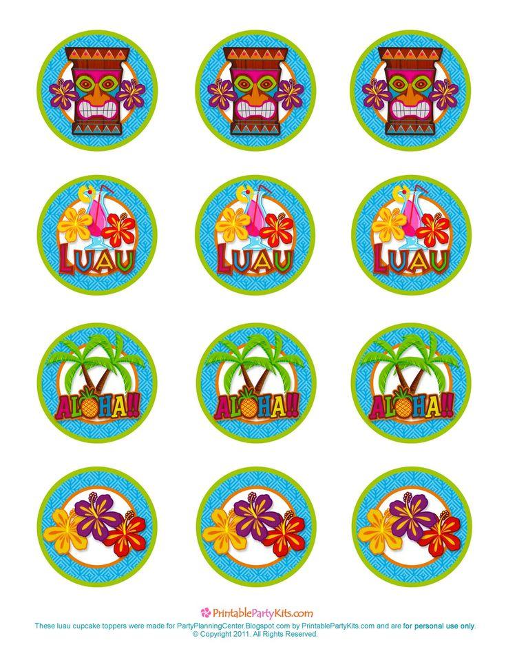 etiquetas fiesta luau