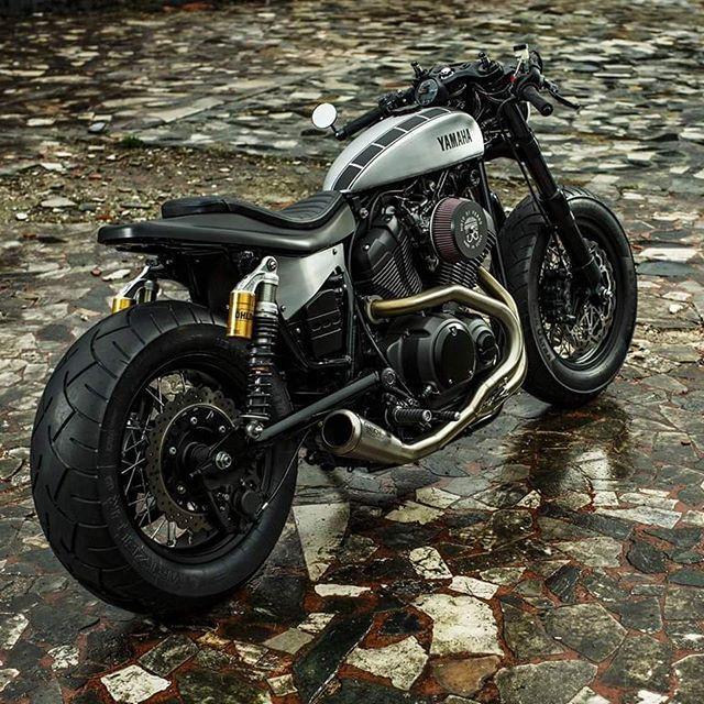 Speed Iron XV 950 by Moto di Ferro on http://rocket-garage.blogspot.com/2016/05/speed-iron.html Yamaha Motor Europe #YardBuilt #caferacer #xv950