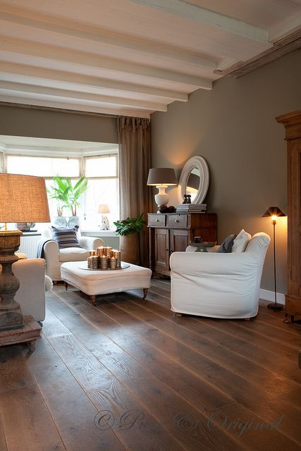 480 best images about flooring and paint on pinterest - Living room with dark wood floors ...