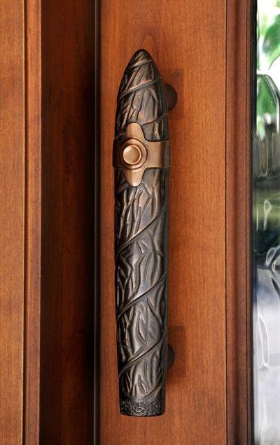 Ultimate cigar room door pull, cast bronze.