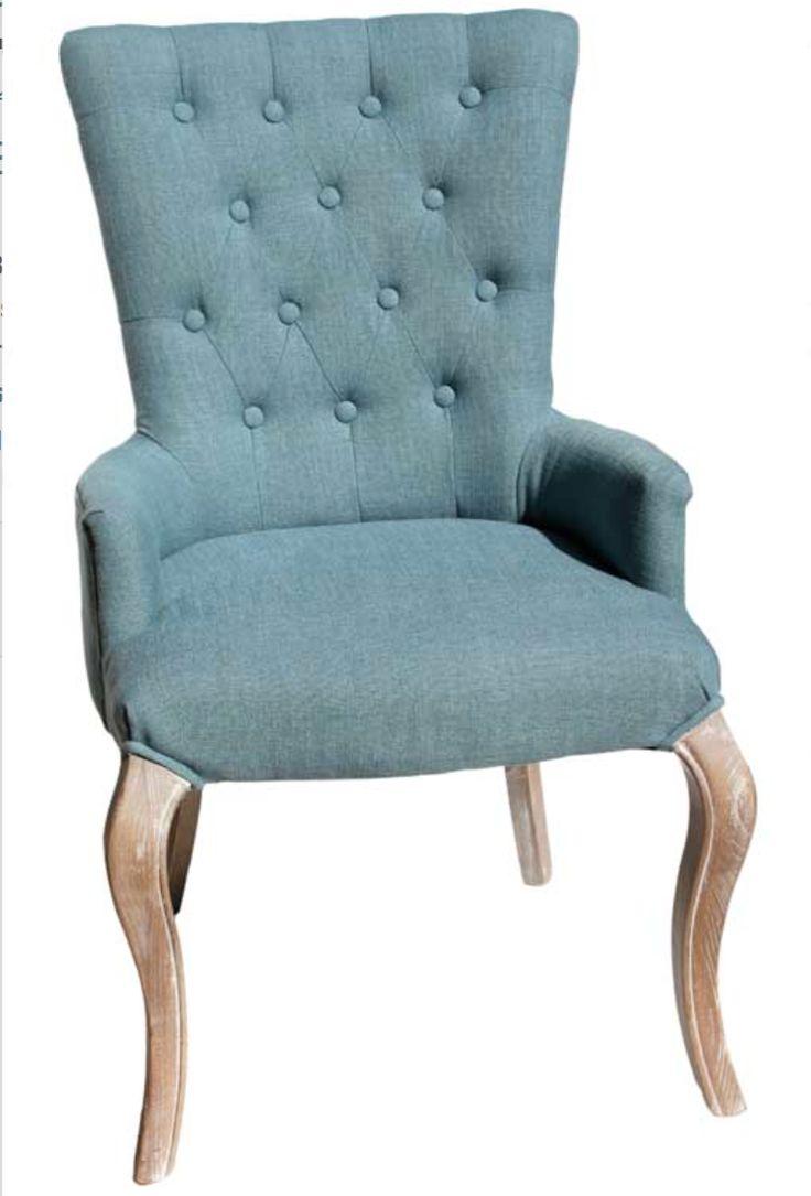 Adi Armchair - Blue – Allissias Attic & Vintage French Style