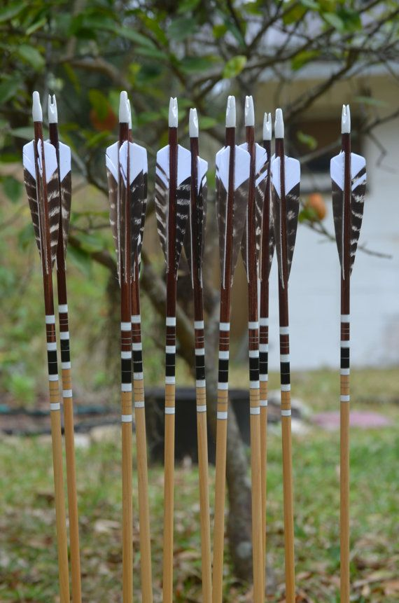 Archery arrows walnut footed port orford cedar by PodunkHollow