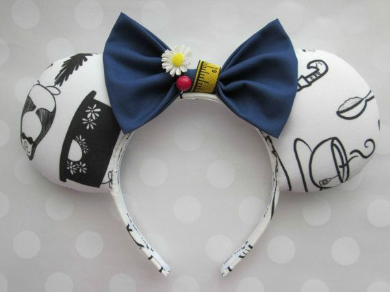 Mary Poppins Inspired Mouse Ears Headband Custom by EarsComeTrue