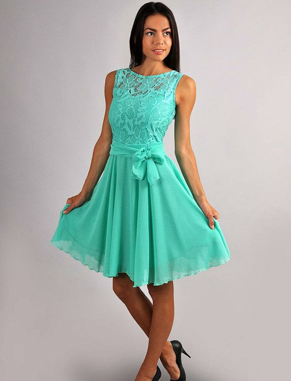 Aqua Blue Short Bridesmaid Dresses Fashion