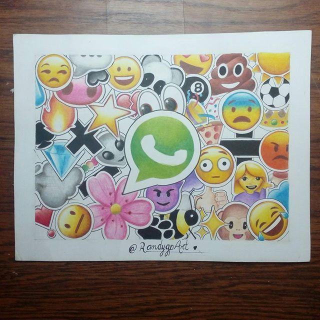 •17 de Julio, desde él 2004 se celebra él Día del Emoji. •Experiencia: Ver la reacción de la gente al pensar que él dibujo es impreso, u calcomanías, ilusión óptica.  | @Randygp_art |    #emojiday #emoji #emotions #emojis #emoticon #whatsapp #socialmedia #happy #day #emoticones #drawings #dibujos #art #color #arte #colores #artist #artista #artists #artlovers #artwork #artoftheday #creative #instaart #instaartist #desing