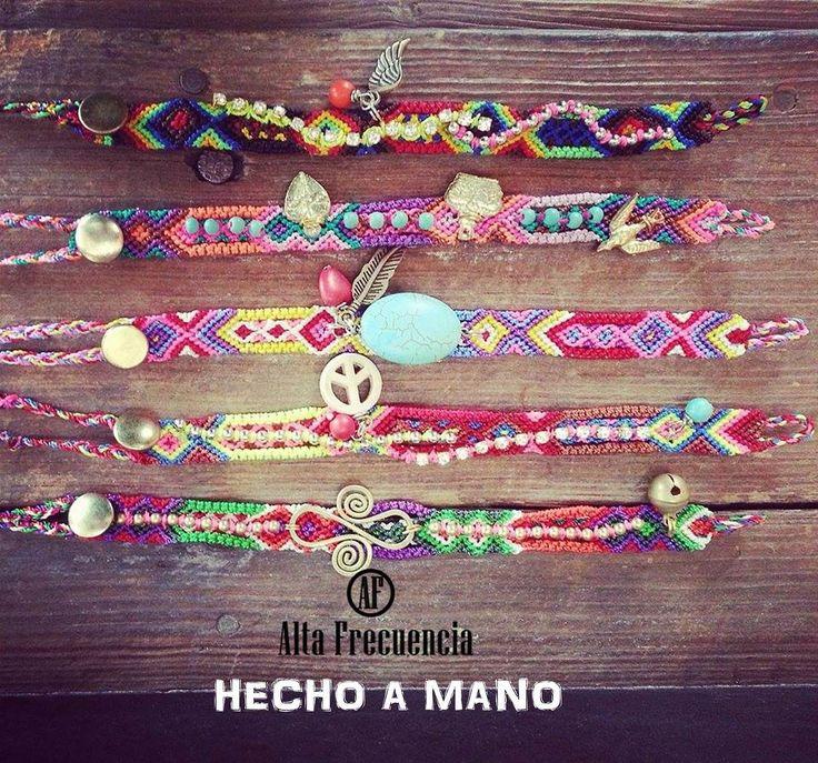 pulseras de la amistad 100% hechas a mano por manos mexicanas, friendship bracelets mexico, bohemio, boho, romantic, etnic, by Alta frecuencia Mexico. https://www.facebook.com/pages/Alta-Frecuencia-Hecho-a-Mano/601323909922860