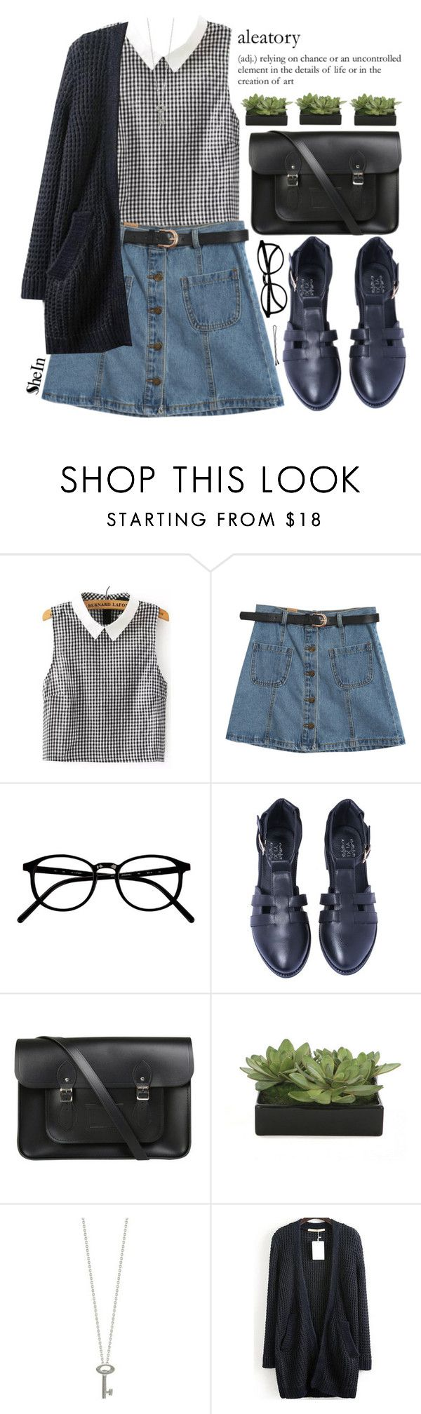 """Aleatory"" by mihreta-m on Polyvore featuring Chicnova Fashion, The Cambridge Satchel Company, Lux-Art Silks, BOBBY, Roberto Coin and shein"