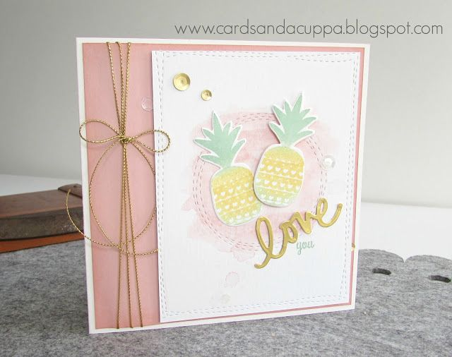 Sarah Jane Rae Cardsandacuppa Stampin Up UK Order Online 24 7 Lil Inkers Pineapple Panache Birthday Card For My Daughter