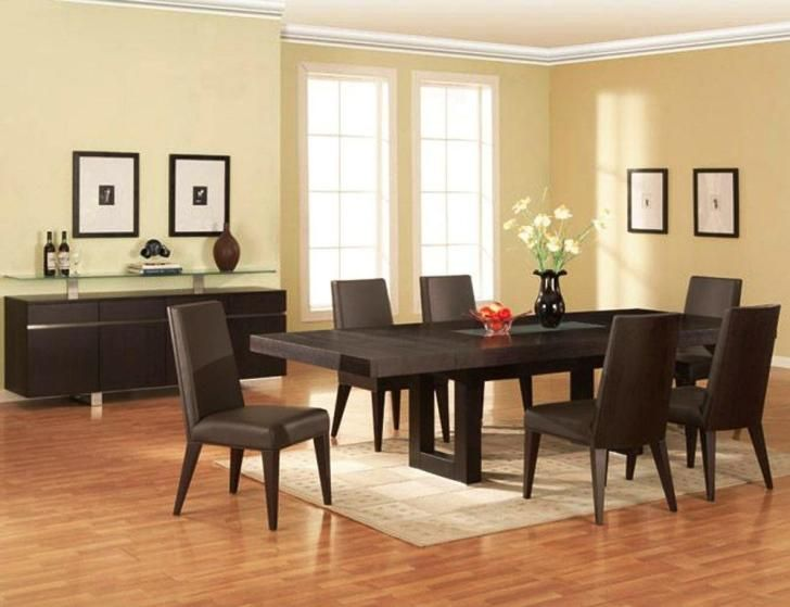InteriorAstounding Contemporary Piece Dining Set Designs Large Flax Room With Brown Wooden