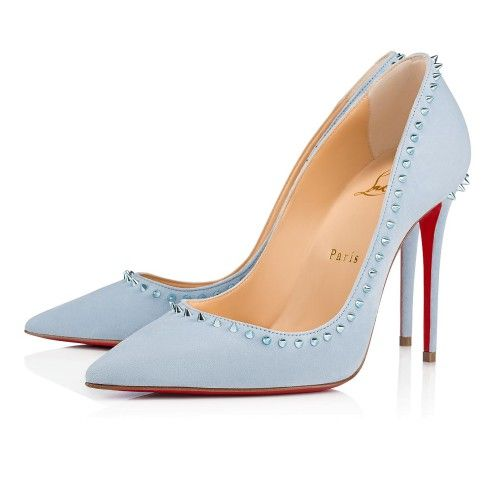 4ee536bb3a9 Anjalina 100 Sky/Metal Light Blue Suede - Women Shoes - Christian ...
