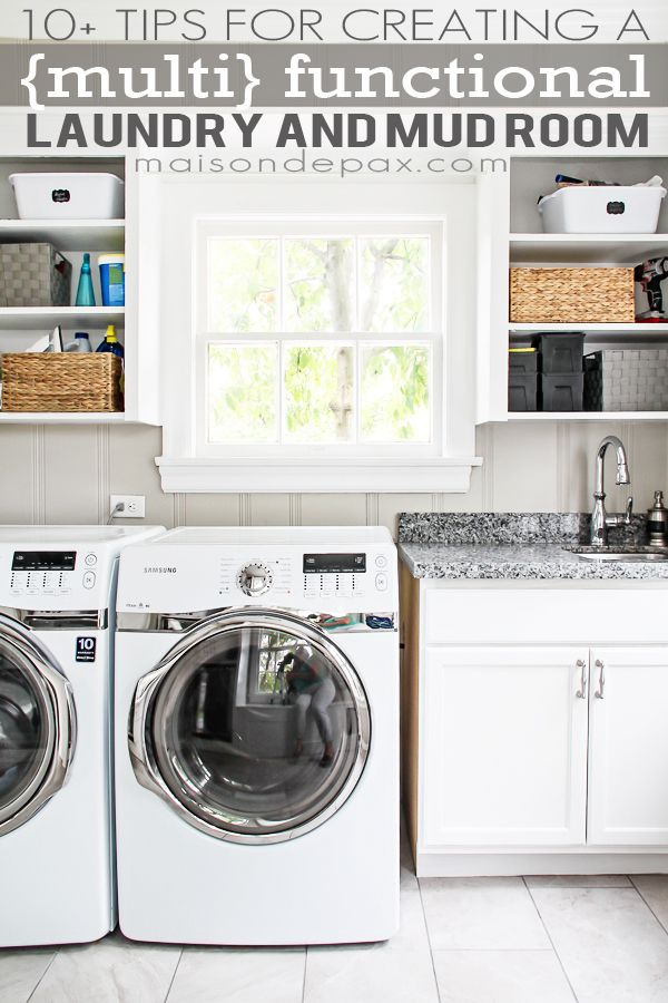 10 Tips For A Functional Laundry And Mud Room