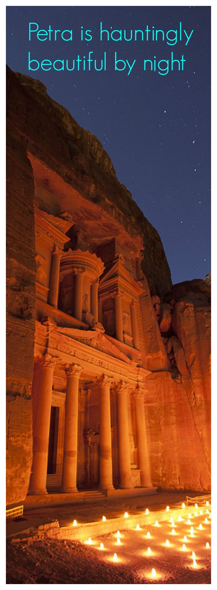Did you think Petra was magnificent at daylight? Imagine Petra by Night at the light of a million stars and thousands of candles!