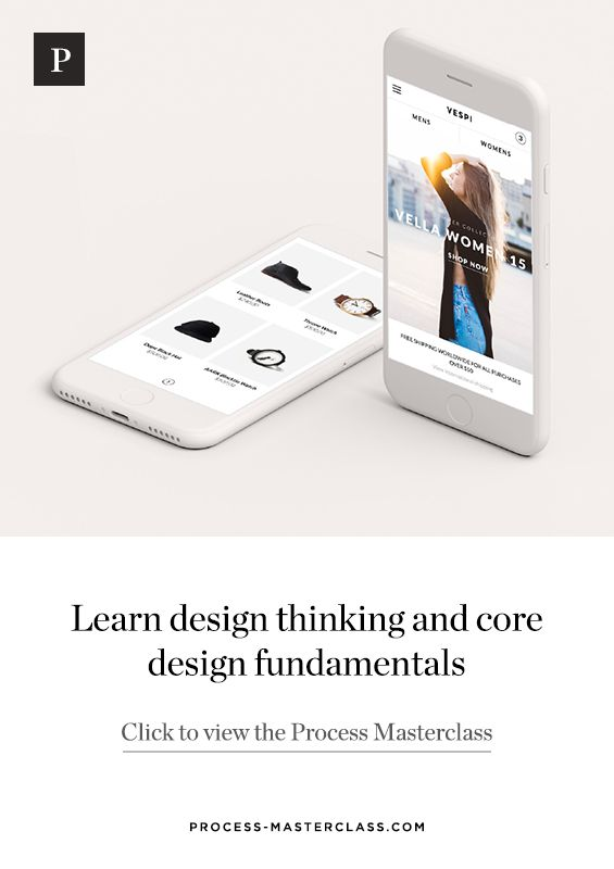 Learn design thinking and core design fundamentals. A course for UI/UX designers looking to get to the next level.