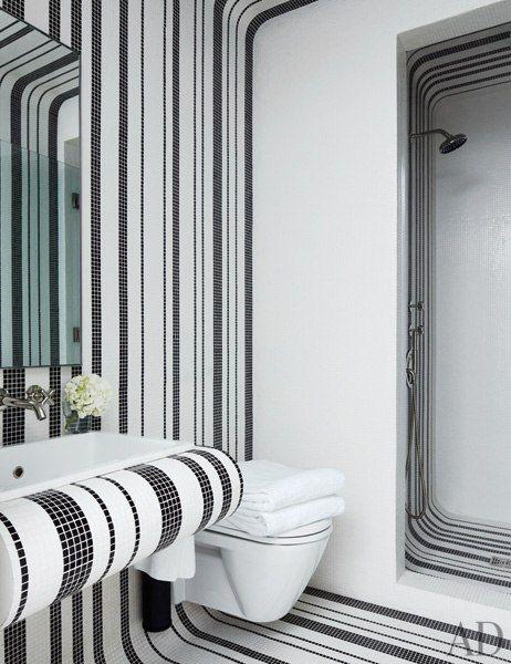 Designer Delphine Krakoff Renovates A Manhattan Townhouse White Tile Bathroomsmosaic
