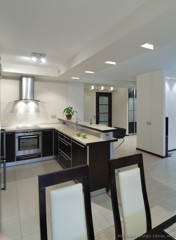 Kitchen Idea Of The Day Modern Two Tone Kitchen With Unique Ceiling Lighting