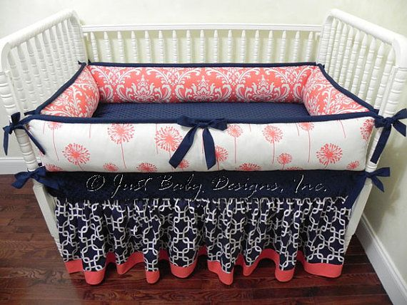 Hey, I found this really awesome Etsy listing at https://www.etsy.com/listing/160648187/custom-baby-bedding-set-halle-navy-and