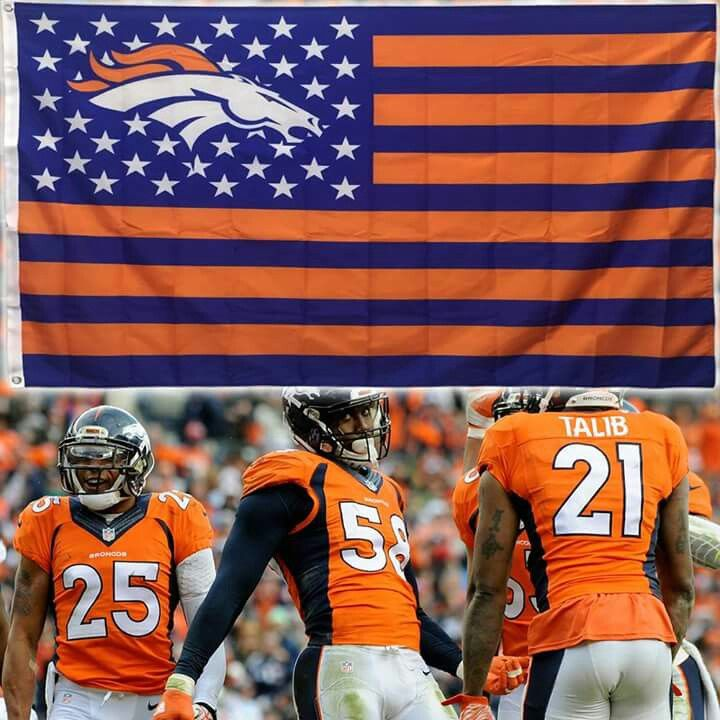 I love this Bronco Nation Flag, I am going to try it in crochet♥♥♥