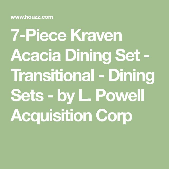 7-Piece Kraven Acacia Dining Set - Transitional - Dining Sets - by L. Powell Acquisition Corp