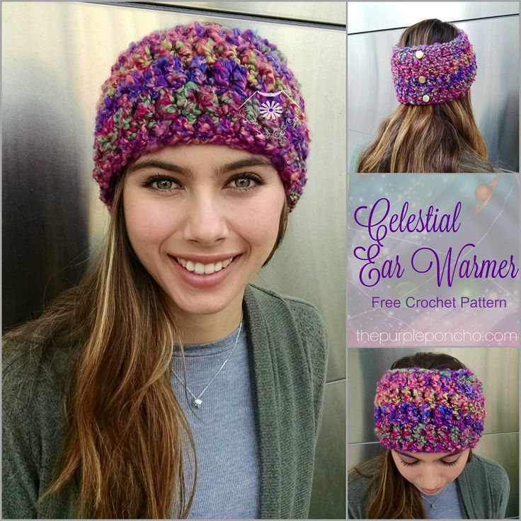 The Celestial Ear Warmer is an easy design and great for beginners. The stitch is repetitive and the yarn does all the work. Made with Red Heart Stellar yarn, it is a fast project to make and wear …