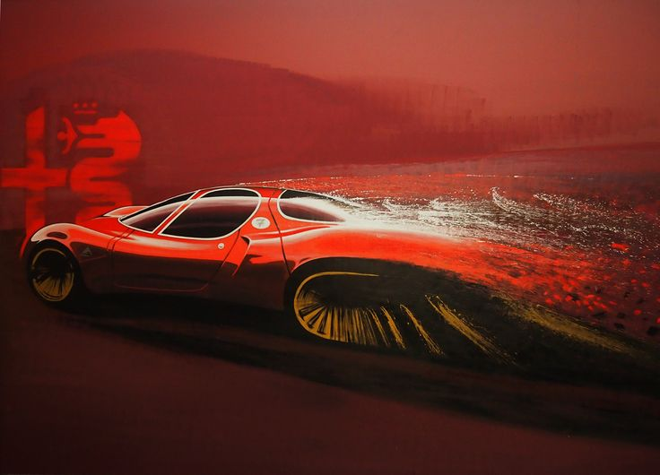 Alfa-Romeo 33 Stradale design art at Mirafiori Motor Village 2016