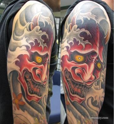 hannya mask tattoo hannya mask tattoos pinterest ideas pictures and tattoo ideas. Black Bedroom Furniture Sets. Home Design Ideas