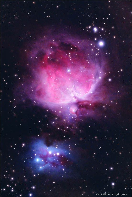 M42 - The Great Nebula in Orion  The Orion Nebula complex is undoubtedly one of the most famous and beautiful areas of the entire night sky. It is easily visible to the unaided eye from a dark location as a patch of brightness surrounding Theta Orionis, the middle star in the s