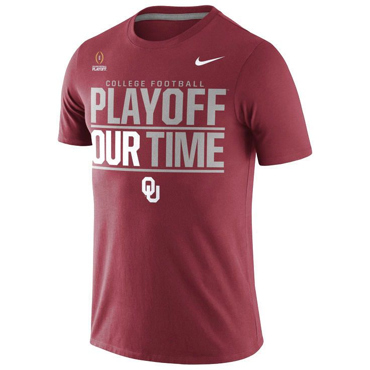 Oklahoma Sooners Nike 2016 College Football Playoff Bound Our Time T-Shirt - Crimson - $18.99