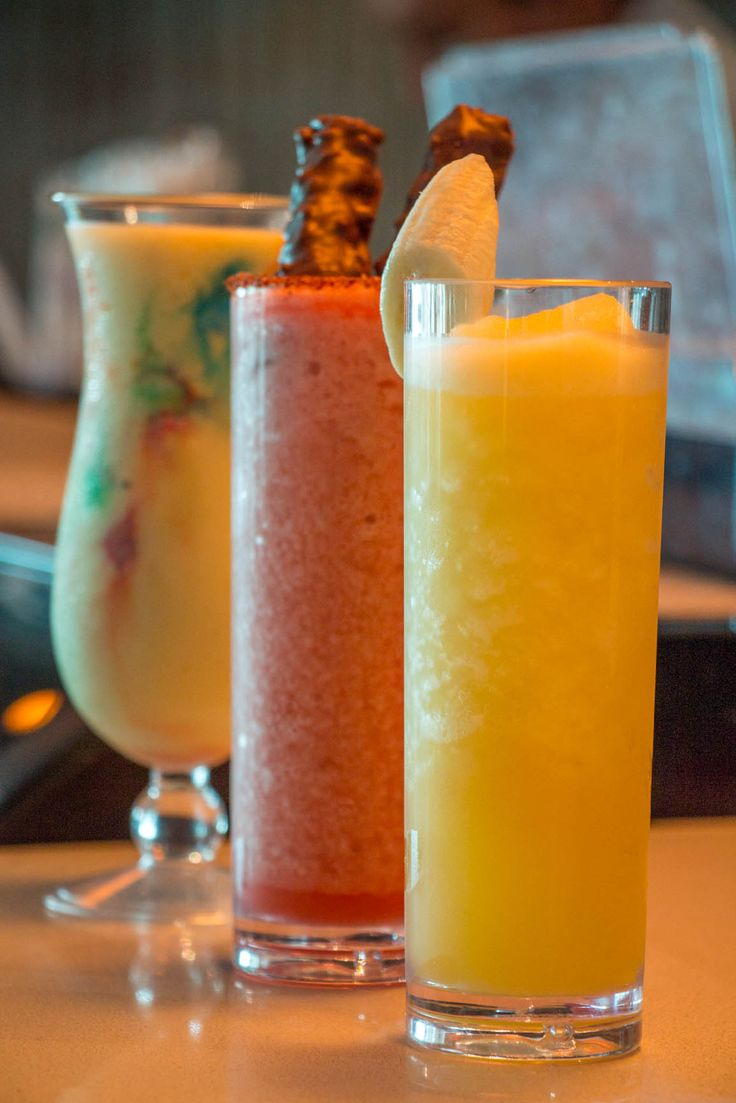 Different colorful ands fruity drinks at Teens Club of #GrandVelas #RivieraNayarit