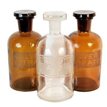 chemists bottles