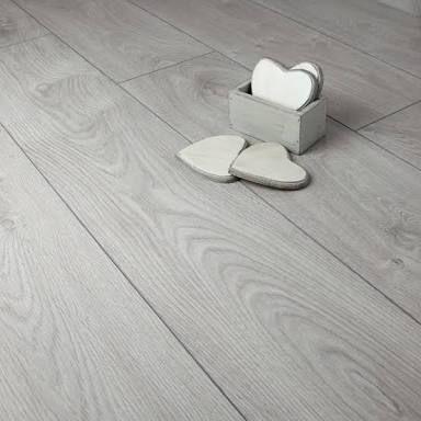 Oak Light Grey Laminate Flooring