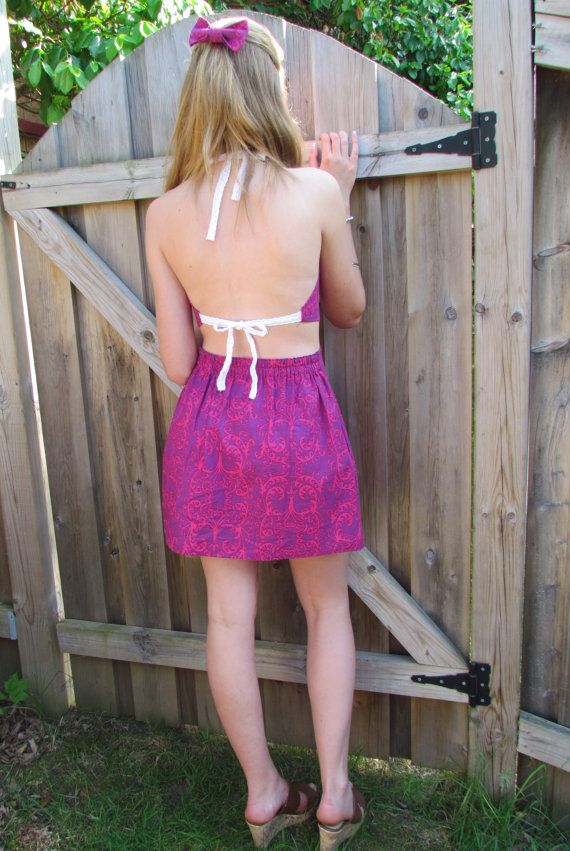 Ruby Razzle Tie-Up-Top by LighthousesAndLilac on Etsy