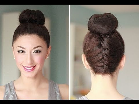 the tutorial for the upside down braid with chignon:)