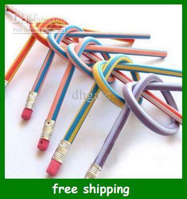 Wholesale Pens & Pencils - Buy Hot 18cm Bendable Flexible Soft Fun Pencil with Eraser Toys Gifts Prize Kids School $0.47 | DHgate