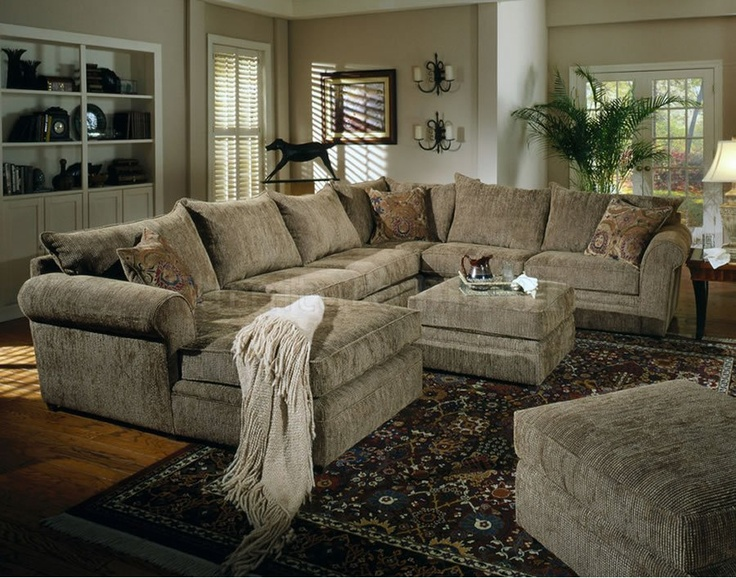 Yes Perfect Couch Beige Chenille Fabric Westwood Sectional Sofa With Coffee Table Ottoman
