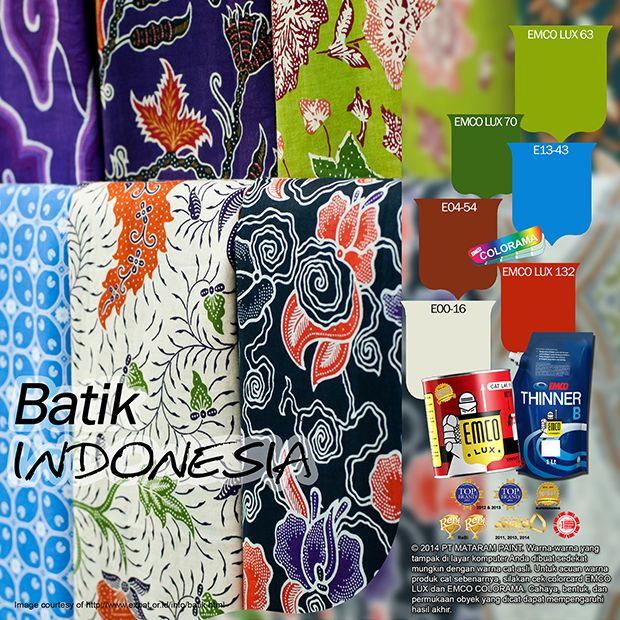 Batik Indonesia #batik #traditional #indonesia #color #likeforlike  http://matarampaint.com/detailNews.php?n=423