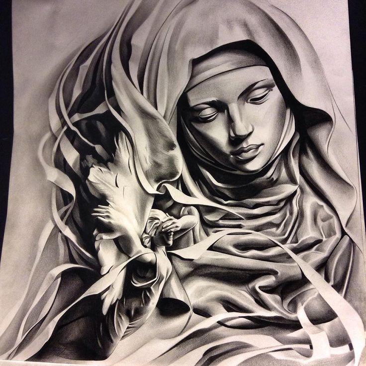 More progress. Thanks for looking! #tattoo #spooky #theprocess #theinkedlife #ink #inksav #blackandgrey #bnginksociety #pencil #graphite #BLVART #art #artfido #sketch_daily #sculpture #drawing #angel #worldofartists #worldofpencils