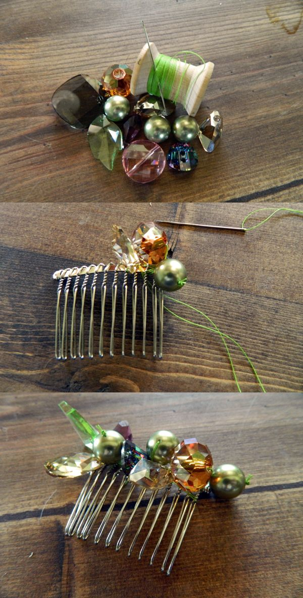 274 best images about wire work on pinterest pearl hair for Metal hair combs for crafts