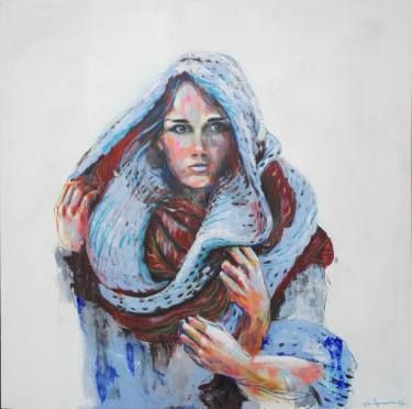 """Saatchi Art Artist Olli Kilpi; Painting, """"Scarfed16 #01"""" #art"""
