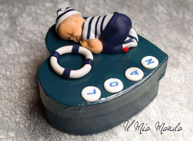 Boîte à dent bébé marin en Fimo (pâte polymère): Créé par Il Mio Mondo : https://www.facebook.com/ilmiomondo26