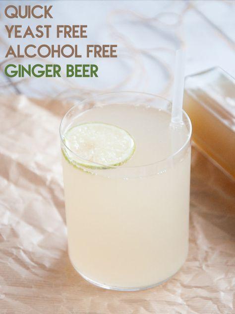 Quick, yeast-free, alcohol-free Ginger Beer   Elephantastic Vegan