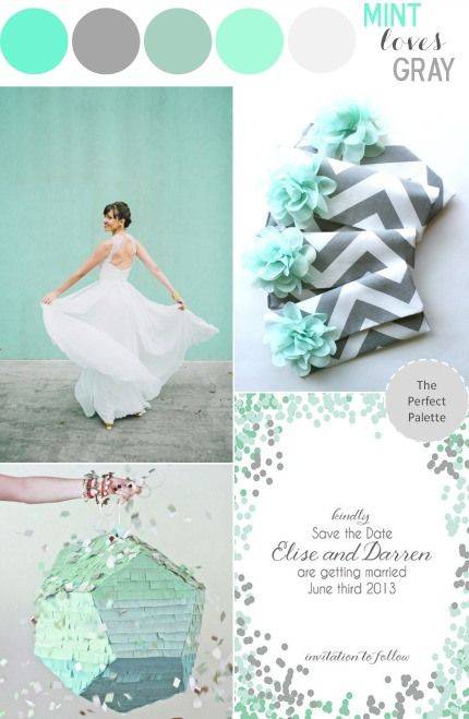 Mint Loves Gray... and I love this color pallet for the W-day!