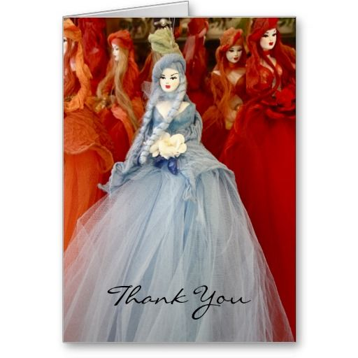 Souvenir Dolls Thank You Card