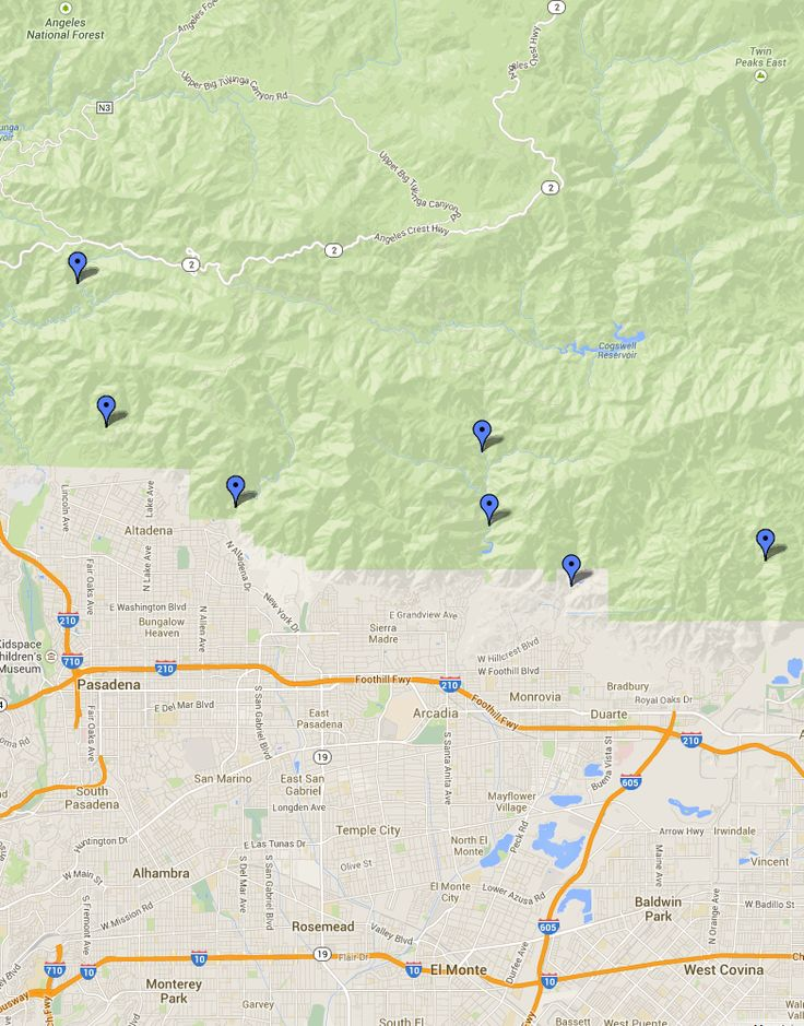 The Best Pasadena California Map Ideas On Pinterest Pasadena - California waterfalls map