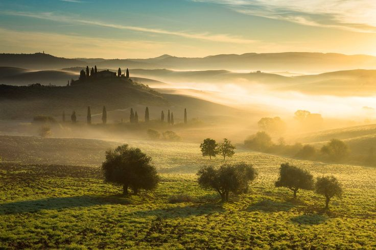 A new glorious morning in Tuscany